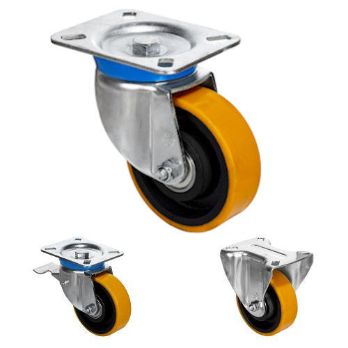 Ball Bearing Zinc Plated Casters Steel center and cast polyurethane tire 882-1764 lb